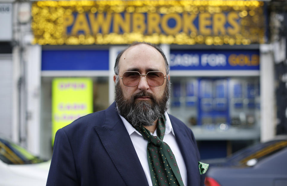 Epsom based Pawnbroker John Freeze. (ITV)