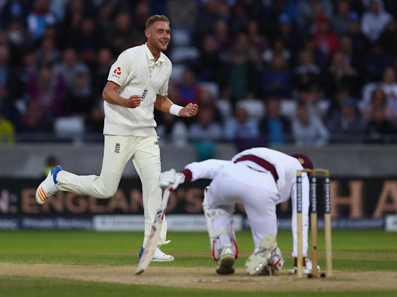 Broad excelled as England demolished the West Indies inside three days (Getty)