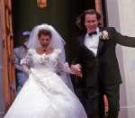 <p>Toula Portokalos was really hoping for a simple wedding ceremony and dress, but then her family got involved. That said, we quite liked the over-the-top frilly wedding dress Nia Vardalos wore in <em>My Big Fat Greek Wedding</em>.</p>