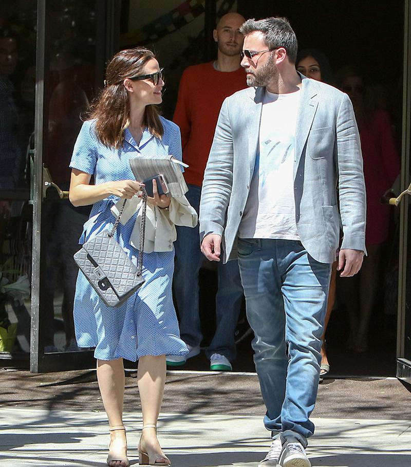 LOS ANGELES, CA - APRIL 16: Ben Affleck and Jennifer Garner are seen on April 16, 2017 in Los Angeles, California. (Photo: Bauer-Griffin/GC Images)