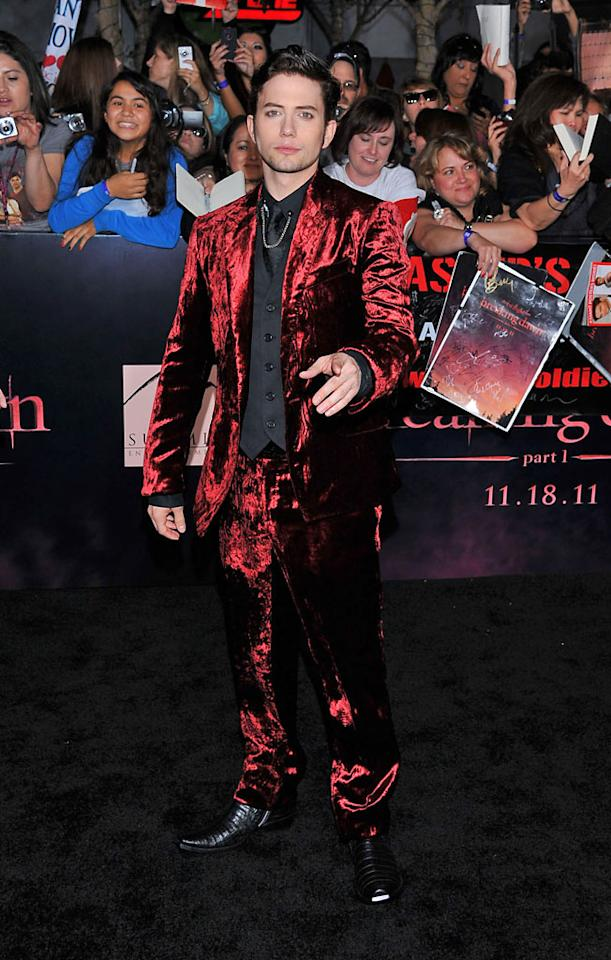 "Jackson Rathbone arrives at the red carpet premiere for ""The Twilight Saga: Breaking Dawn – Part 1"" in Los Angeles, CA. (Photo by Vince Bucci/Yahoo!)"