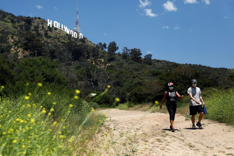 Los Angeles hiking trails partially reopen during the global outbreak of the coronavirus disease (COVID-19)