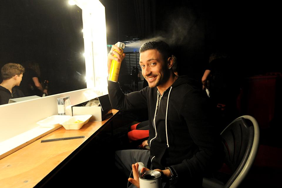 BIRMINGHAM, ENGLAND - JANUARY 18:  Giovanni Pernice is seen backstage at the 'Strictly Come Dancing' Live! dress rehearsal at Arena Birmingham, on January 18, 2018 in Birmingham, England. Ahead of the opening on 19th January 2018, touring the United Kingdom until 11th February 2018.  (Photo by Dave J Hogan/Dave J Hogan/Getty Images)