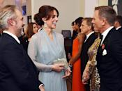 <p>Kate Middleton shared a laugh with the Bond actor, Daniel Craig. </p>