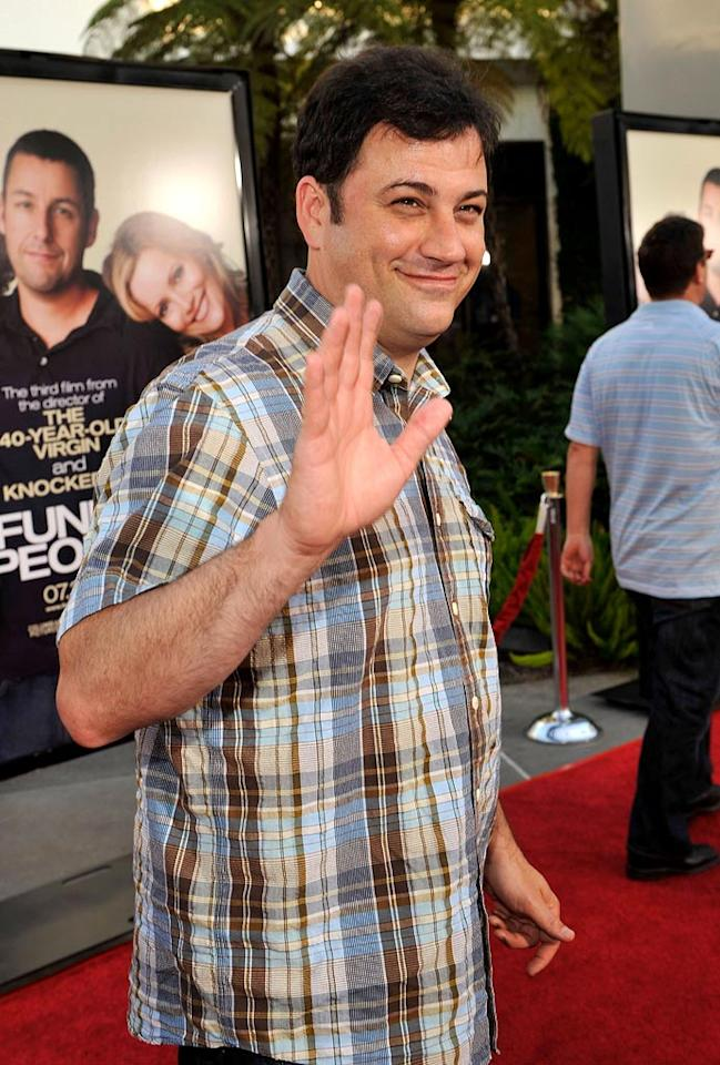 """<a href=""""http://movies.yahoo.com/movie/contributor/1807455762"""">Jimmy Kimmel</a> at the Los Angeles premiere of <a href=""""http://movies.yahoo.com/movie/1810041785/info"""">Funny People</a> - 07/20/2009"""