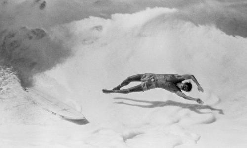 Jeff Divine's best photograph: a wipeout on surfing's greatest wave