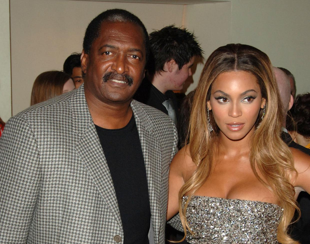 Beyonce and father Matthew Knowles attending the UK premiere of Dreamgirls in Leicester Square, London.   (Photo by Ian West - PA Images/PA Images via Getty Images)