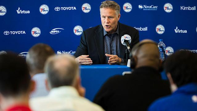 With head coach Brett Brown at the helm of their GM-less regime, the 76ers went 'star-hunting' this summer … and, thus far, they haven't bagged one. (AP)