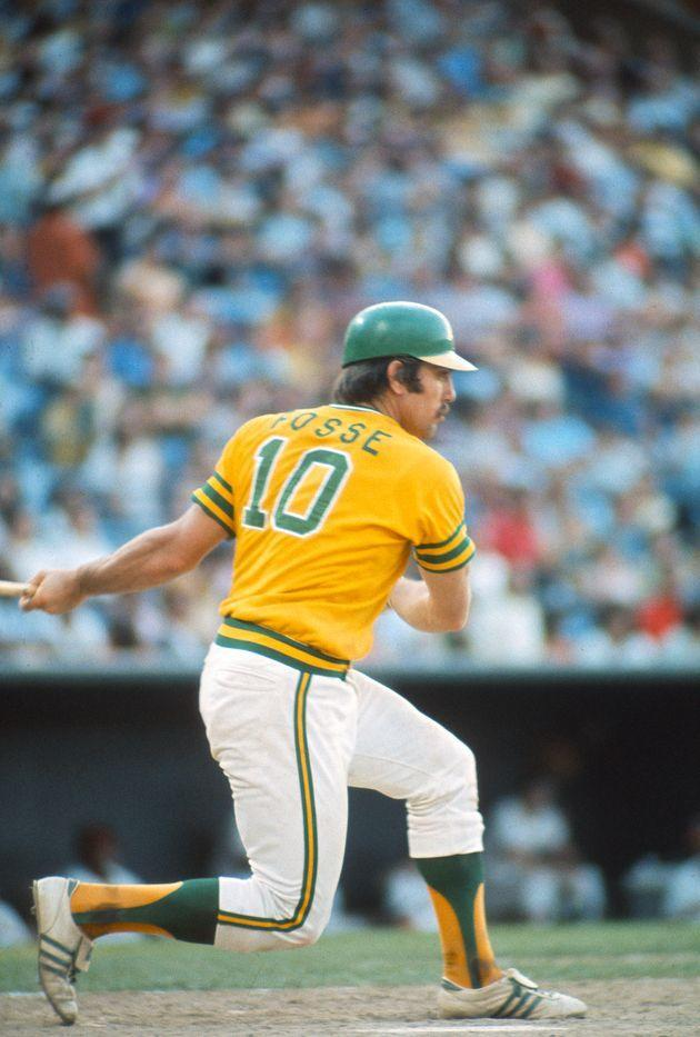 Ray Fosse at bat in a game for the Oakland A's in 1974. (Photo: Focus On Sport via Getty Images)