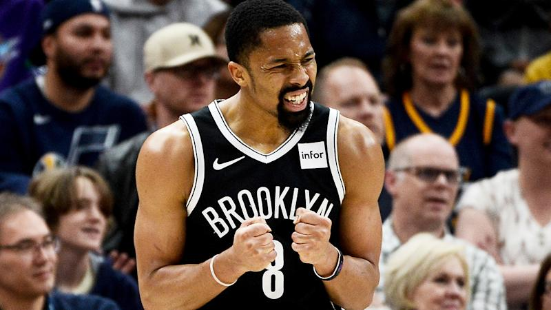 Brooklyn Nets guard Spencer Dinwiddie, pictured, has impressed while Kyrie Irving and Caris LeVert have been out injured.