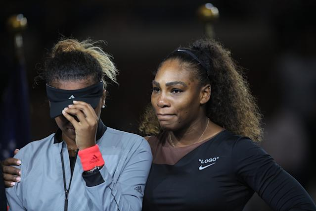 "<a class=""link rapid-noclick-resp"" href=""/olympics/rio-2016/a/1132744/"" data-ylk=""slk:Serena Williams"">Serena Williams</a> congratulated Naomi Osaka for her historic victory in Sunday's U.S. Open women's final. (Getty Images)"