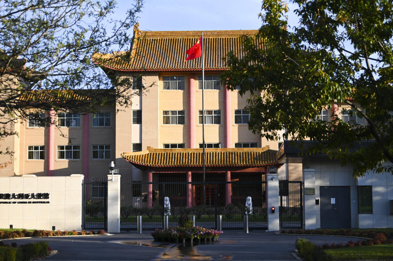 The Chinese embassy in Canberra. Source: AAP