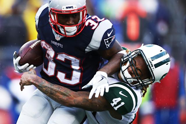 Dion Lewis is reportedly teaming up with Derrick Henry in the Tennessee backfield. (Getty)