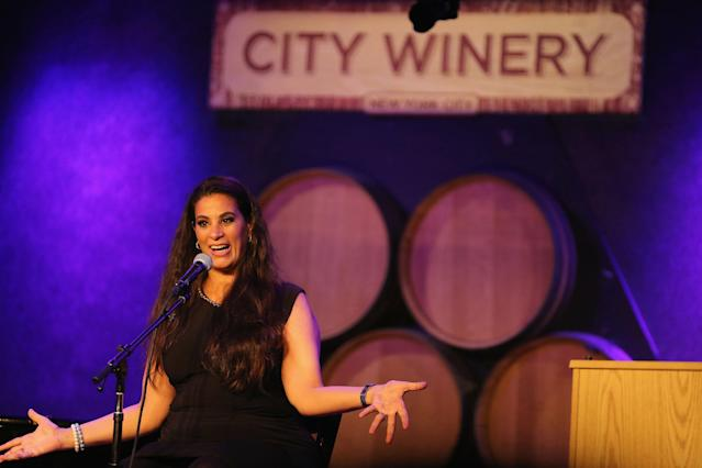 Maysoon Zayid performing standup in New York City. (Photo: Al Pereira/Getty Images)