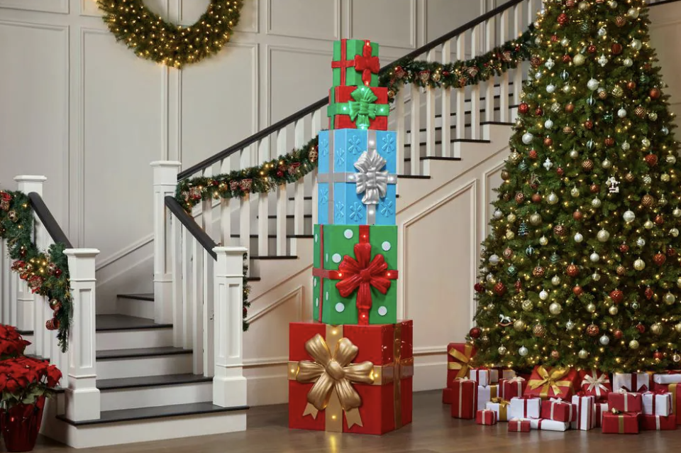 home accents holiday giant sized christmas gift box