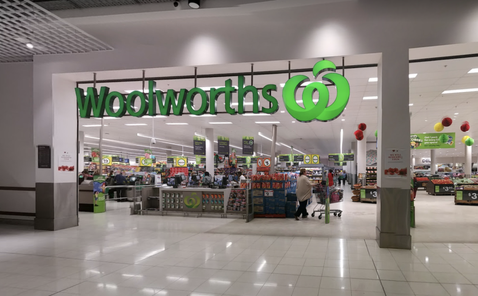 Woolworths at Lidcombe is pictured.