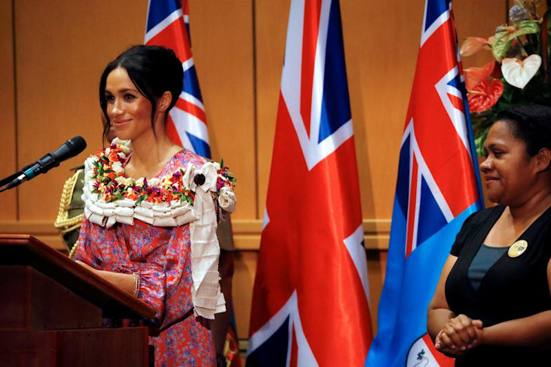 The Duchess of Sussex at the University of the South Pacific in Suva, Fiji. [Photo: PA]