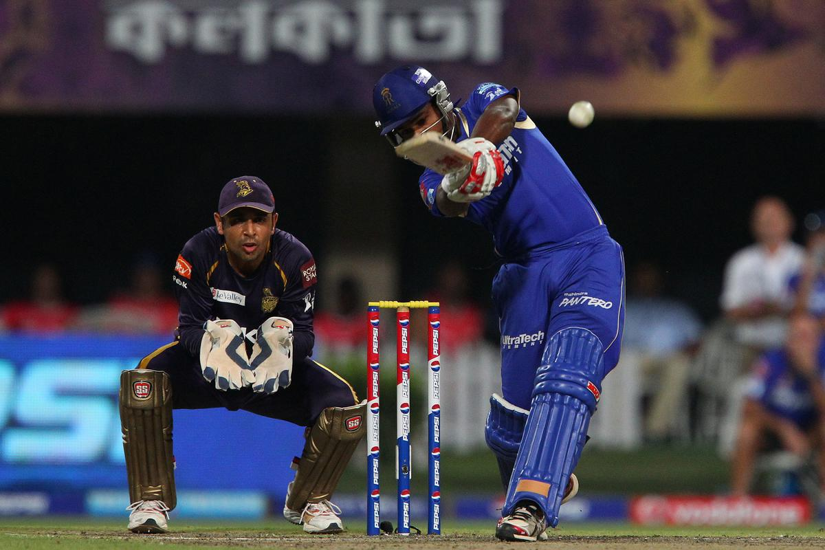 Sanju Samson during match 47 of the Pepsi Indian Premier League between The Kolkata Knight Riders and the Rajasthan Royals held at the Eden Gardens Stadium in Kolkata on the 3rd May 2013..Photo by Ron Gaunt-IPL-SPORTZPICS  ..Use of this image is subject to the terms and conditions as outlined by the BCCI. These terms can be found by following this link:..https://ec.yimg.com/ec?url=http%3a%2f%2fwww.sportzpics.co.za%2fimage%2fI0000SoRagM2cIEc&t=1506398584&sig=H6xOdQB3.4pkjYHtyV8Cig--~D
