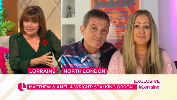Matthew and Amelia Wright opened up on their experiences on Lorraine. (ITV)