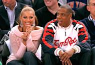 <p>The couple watched Bey's hometown team the Houston Rockets take on Jay-Z's home city's team the New York Nicks together.</p>