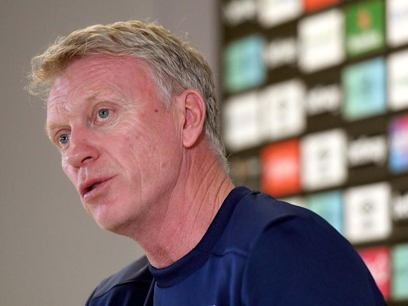 David Moyes speaks to the media on Monday: PA