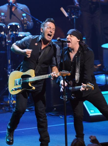 AUSTIN, TX - MARCH 15: Musicians Bruce Springsteen and Steven Van Zandt perform during the 2012 SXSW Music, Film   Interactive Festival at ACL Live at Moody Theatre on March 15, 2012 in Austin, Texas.
