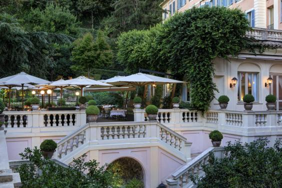 Hotel de Russie's secluded garden is the perfect place to escape the busy city streets (Hotel de Russie)