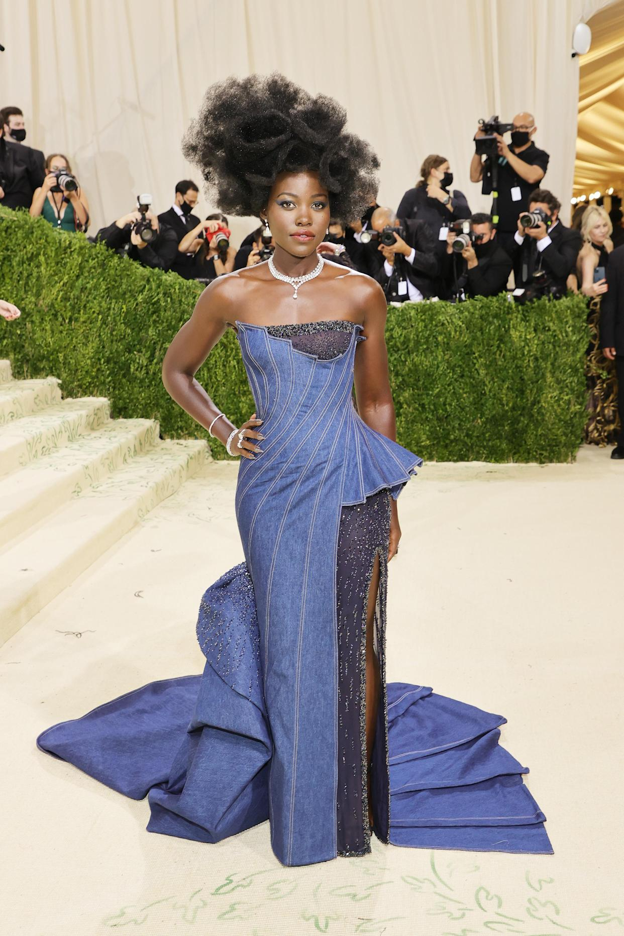 Lupita Nyong'o attends The 2021 Met Gala Celebrating In America: A Lexicon Of Fashion at Metropolitan Museum of Art on September 13, 2021 in New York City. (Getty Images)