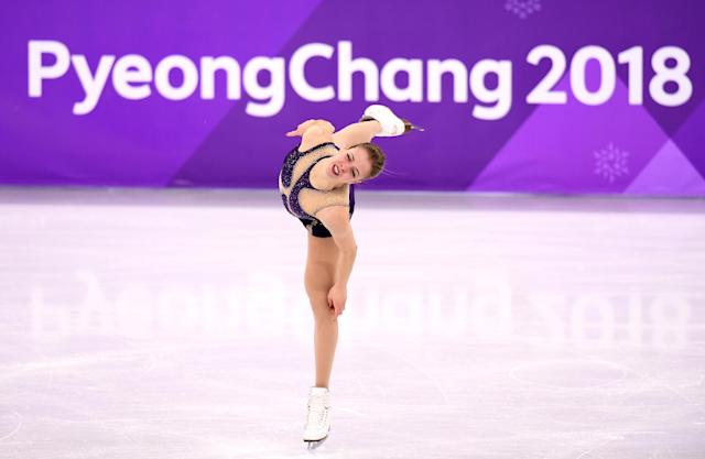 <p>Carolina Kostner of Italy competes during the Ladies Single Skating Free Skating on day fourteen of the PyeongChang 2018 Winter Olympic Games at Gangneung Ice Arena on February 23, 2018 in Gangneung, South Korea. (Photo by Harry How/Getty Images) </p>