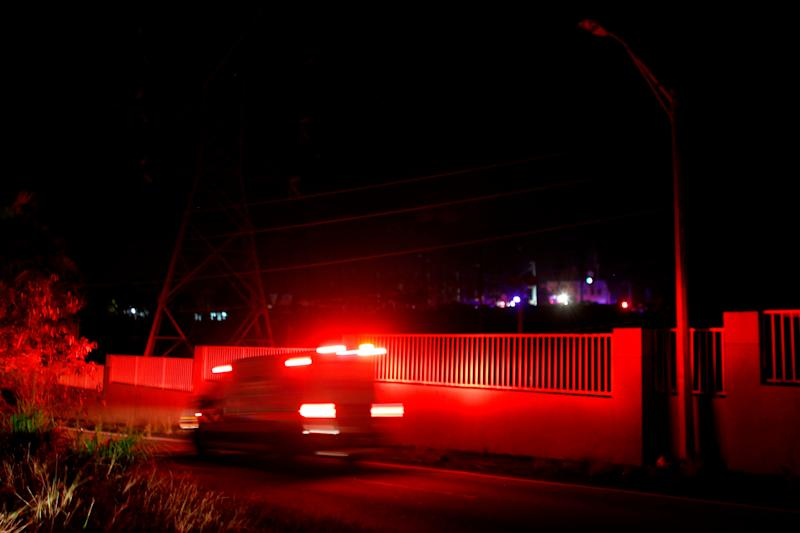 An explosion at a power station plunged parts of northern Puerto Rico into darkness on Sunday evening.