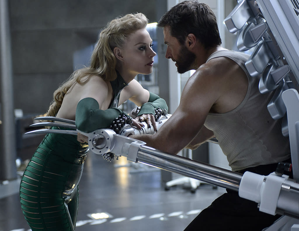"Svetlana Khodchenkova and Hugh Jackman in 20th Century Fox's ""The Wolverine"" - 2013"