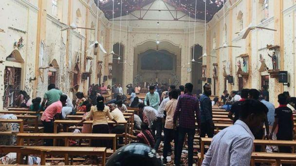 PHOTO: An explosion rocked St. Sebastian's Church in Negombo, Sri Lanka, on Sunday, April 21, 2019. (St. Sebastian's Church)