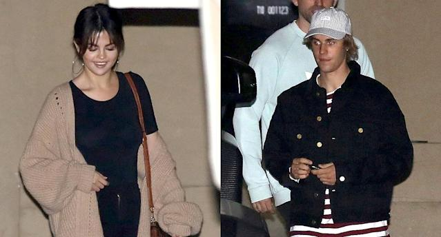 Selena and Justin leave church. (Photos: Backgrid)