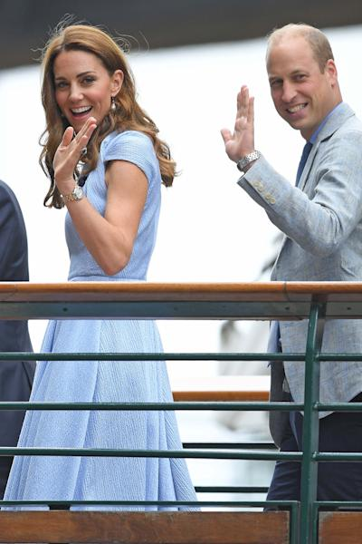 Kate Middleton, Prince William Attend Wimbledon 2019