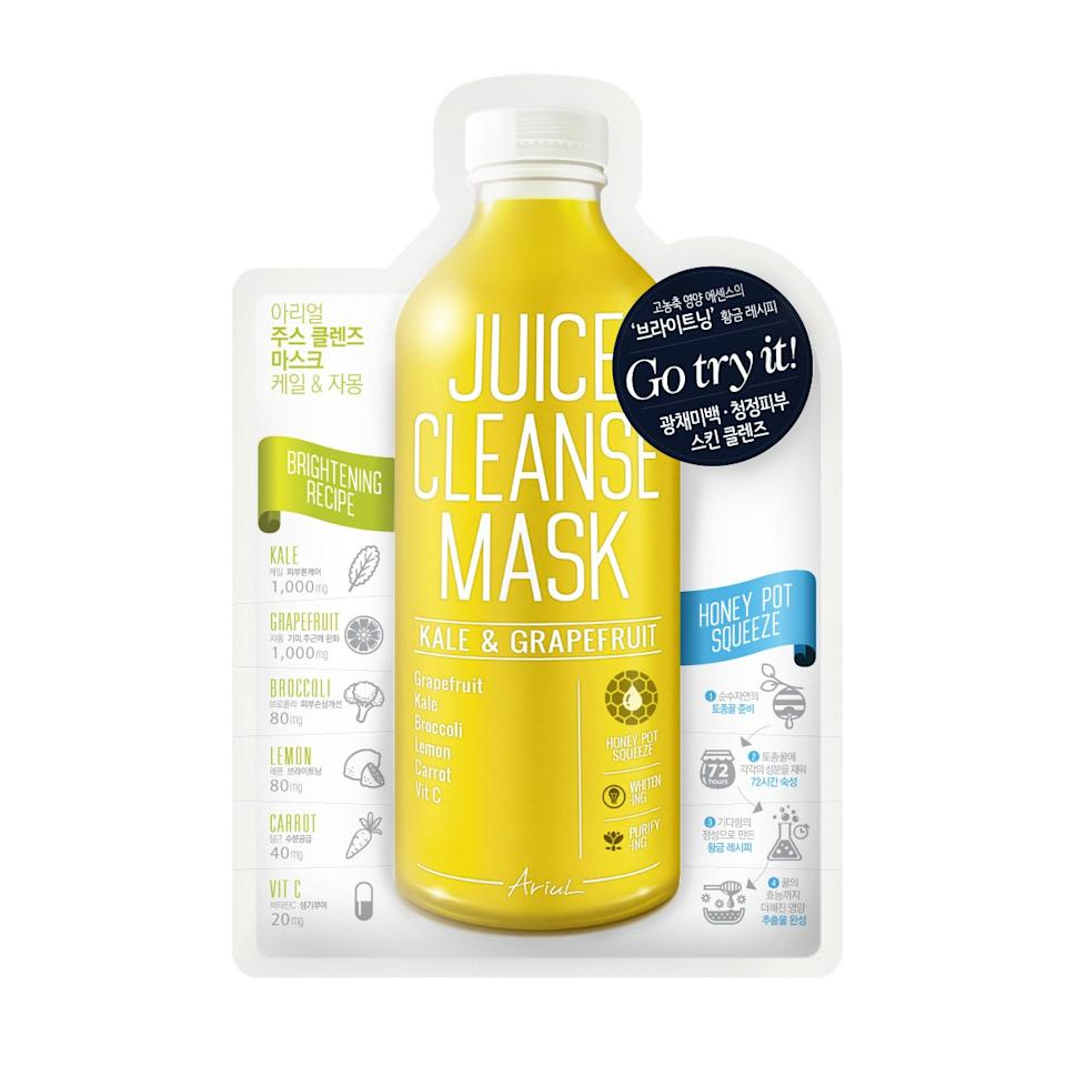 <p>Probably the most affordable juice cleanse ever, this sheet mask is packed with vitamins that brighten skin and reduce hyperpigmentation.</p>