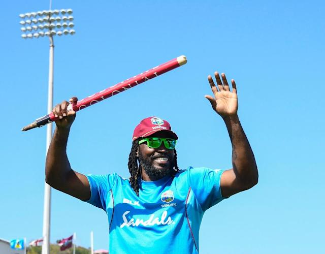 Chris Gayle is the dangerman for the West Indies at the Cricket World Cup (AFP Photo/Randy Brooks)