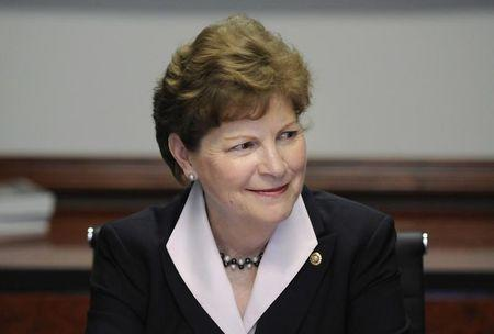 U.S. Senator Jeanne Shaheen takes her seat for the Reuters Washington Summit in Washington