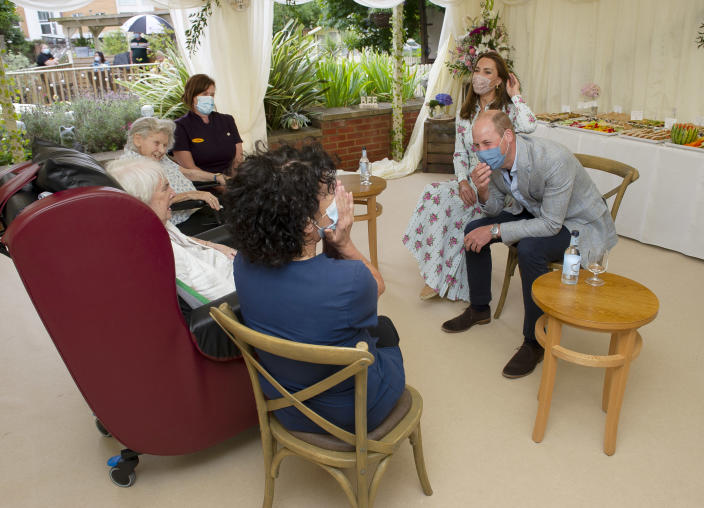 William and Kate had taken part in a zoom bingo call with the residents. (Getty Images)