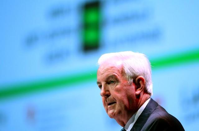 FILE PHOTO: Reedie President of the WADA attends the WADA Symposium in Ecublens