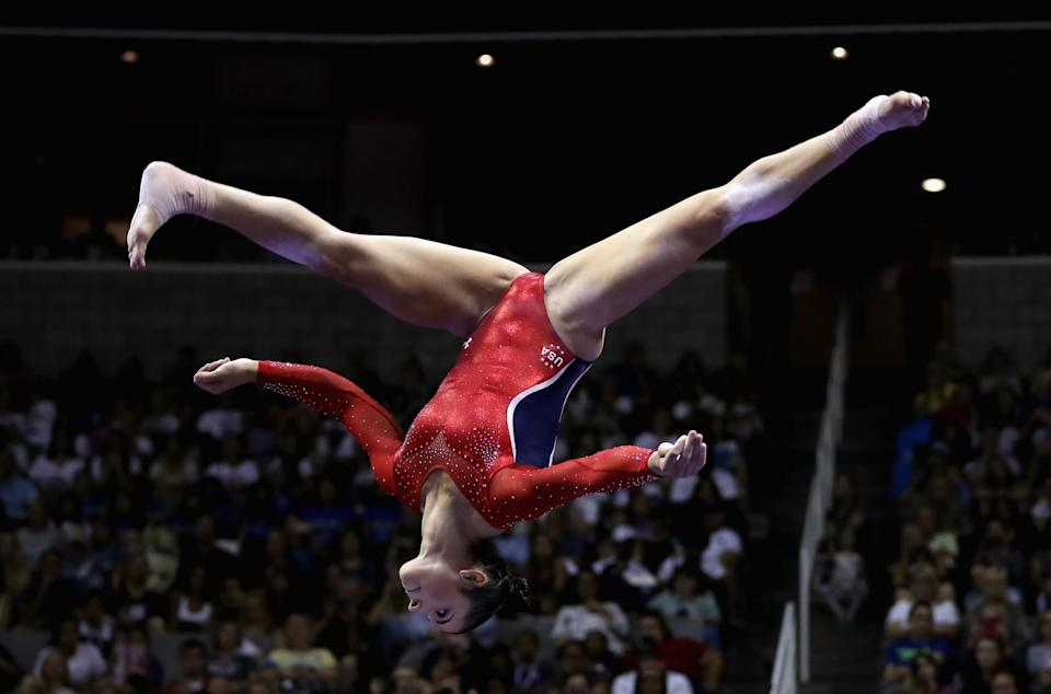 """<p>Raisman showcased her athletic grace and moves in """"Dancing with the Stars"""" following the London Games. Her nickname during competition was 'Reliable Raisman'. (Getty) </p>"""