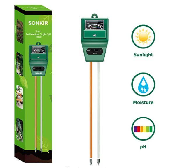 "Find this Sonkir Soil pH Meter for $16 on <a href=""https://amzn.to/30AhXMn"" target=""_blank"" rel=""noopener noreferrer"">Amazon</a>."