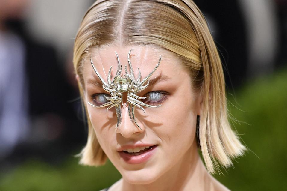 <p>surprised in a futuristic headpiece that seemed straight from a superhero movie.</p>