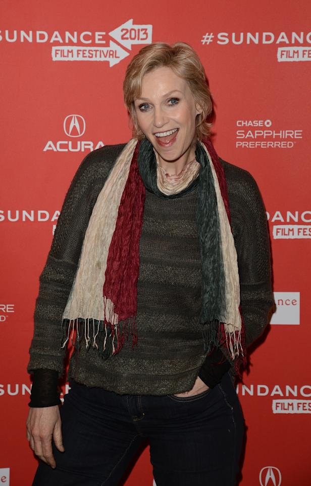 PARK CITY, UT - JANUARY 21:  Actress Jane Lynch attends the 'Afternoon Delight' premiere at Eccles Center Theatre during the 2013 Sundance Film Festival on January 21, 2013 in Park City, Utah.  (Photo by Jason Merritt/Getty Images)
