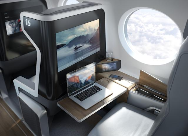 Boom technology supersonic plane cabin