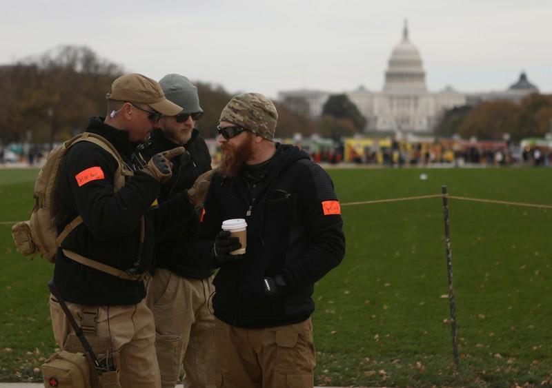 """Militia members and pro-gun rights participate in the """"Declaration of Restoration"""" rally in Washington, D.C."""
