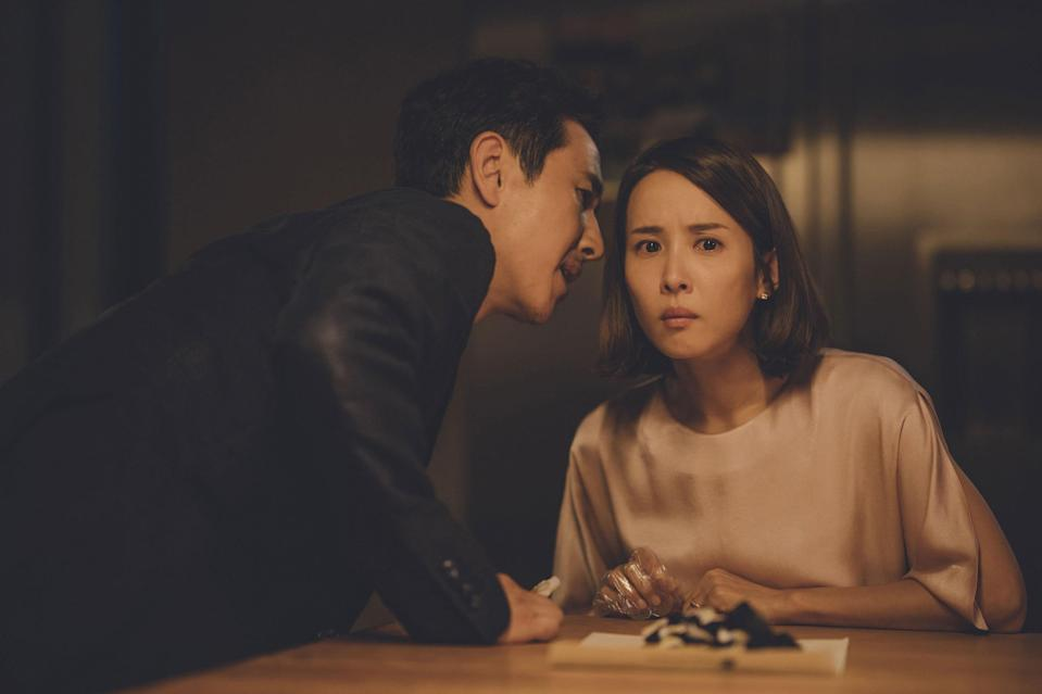 """<p><em>Parasite</em> doesn't have as many jump scares as, say, <em>The Conjuring</em>, but it will still haunt you long after you watch. """"The most horrifying thing is that no matter how awful and violent the characters are to each other, the movie is constantly suggesting that you, the viewer, are just as bad,"""" staff writer Jenny Singer explains. """"Also, it has one of the most high-stakes will-they-get-caught scenes I've ever seen. I had to close my eyes and have my friend calmly tell me what was happening for a lot of it."""" </p> <p><a href=""""https://www.hulu.com/parasite-movie"""" rel=""""nofollow noopener"""" target=""""_blank"""" data-ylk=""""slk:Available to stream on Hulu"""" class=""""link rapid-noclick-resp""""><em>Available to stream on Hulu</em></a></p>"""
