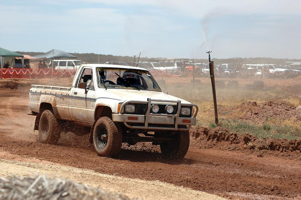 White ute driving off road. Source: Getty Images