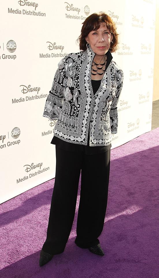 "Lily Tomlin (""Malibu Country"") attends the Disney Media Networks International Upfronts held at Walt Disney Studios on May 20, 2012 in Burbank, California."