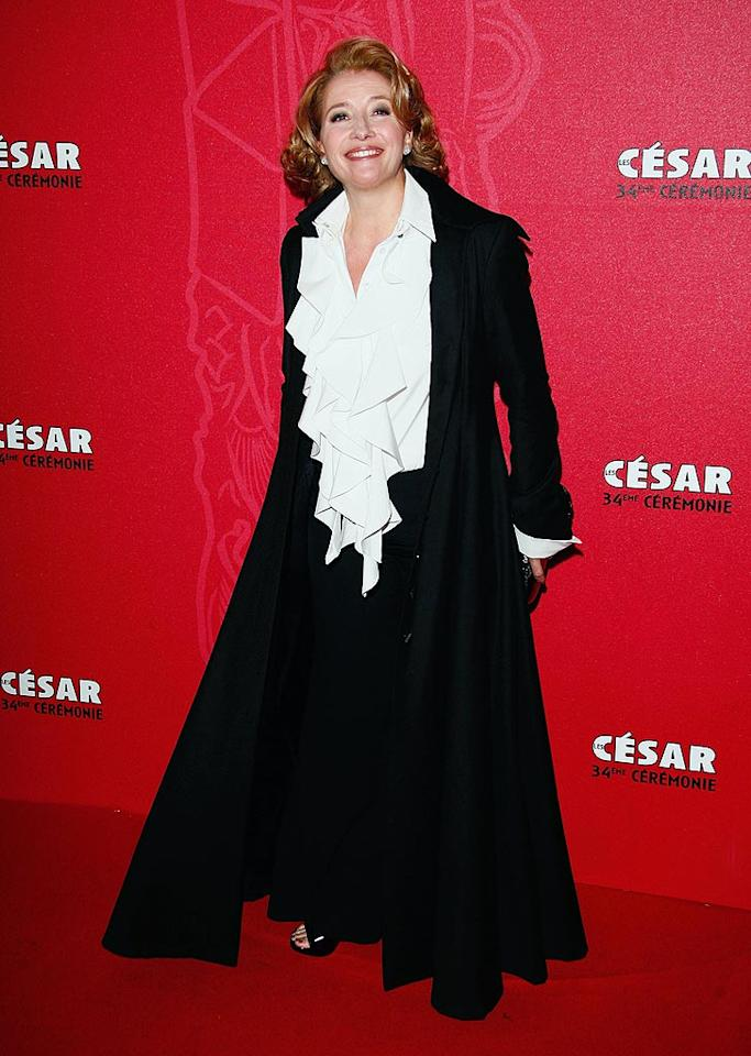 "It looks like Emma Thompson borrowed Jerry Seinfeld's iconic puffy shirt. She should return it immediately ... or do us all a favor and burn it. Julien Hekimian/<a href=""http://www.wireimage.com"" target=""new"">WireImage.com</a> - February 27, 2009"