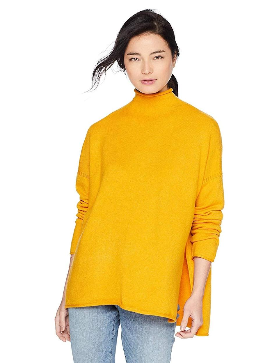 <p>This <span>French Connection Vhari Solid Long Sleeve Sweater</span> ($93) is a bestseller for a good reason - it's very comfortable and comes in a few different colors.</p>